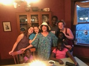Kupenda donor with family at her 58th birthday